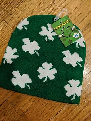 Saint Patrick Day Hats (St. Patrick's Day Shamrock Beanie Hat)