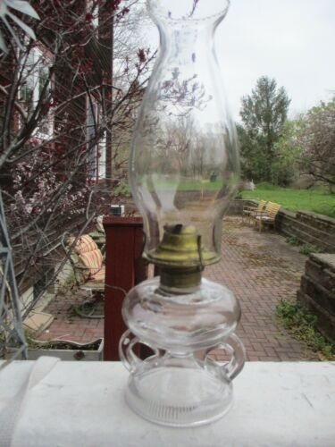 Antique Patented 1868 Ripley Double Handled Oil Lamp Excellent