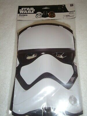 NEW STAR WARS BIRTHDAY PARTY PAPER MASKS 8 PCS