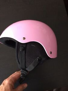 Small Pink Helmet ski skating sports
