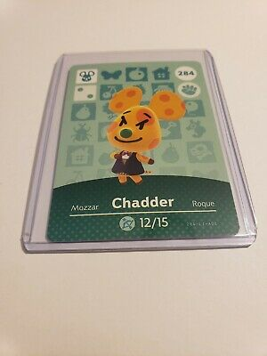 Chadder # 284 Animal Crossing Amiibo Card AUTHENTIC Series 3 NEW NEVER SCANNED!