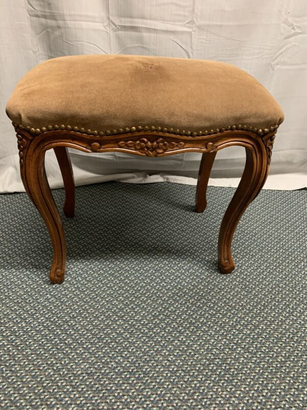 Italian Carved Foot Stool Bench