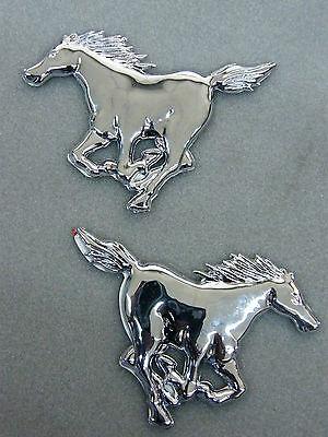 2 Stück 3D chrom Auto Aufkleber Mustang Pferd Hengst Bronco verchromte Sticker