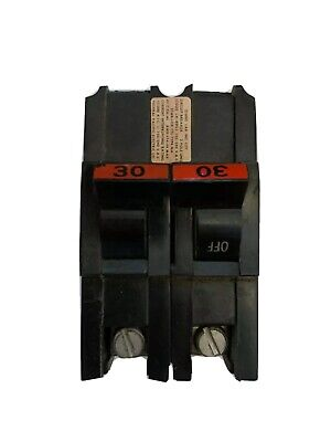 30 Amp Federal Pacific Stab Lok 30a Fpe Double 2 Pole Breaker Tested