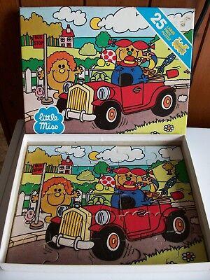 25 Pcs Puzzle Toy (Little Miss VINTAGE 1981 JIGSAW PUZZLE 25Pcs TOY SHAPED **GC**  )