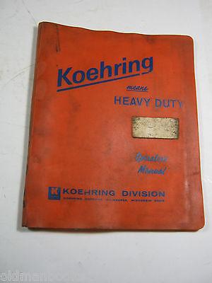 Koehring 466d Operators Manual 1972 C15698 Up