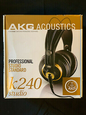 AKG K240 Semi-Open Professional Studio Headphones - Lightly Used, excellent cond