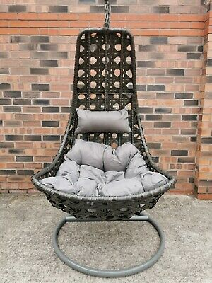 RATTAN MOON EGG SWING CHAIR FOR GARDEN AND INDOOR USE BRAND NEW