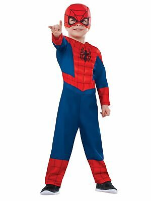 Toddler Boys Spider-Man Muscle Chest Halloween Costume Jumpsuit & Headpiece