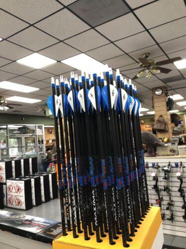 1 dozen Carbon Express Maxima Blu RZ 350 arrows with Blazer