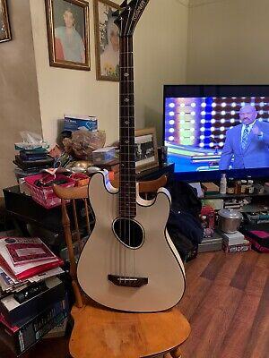 Kramer Ferrington Acoustic Electric Bass Guitar White