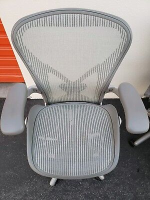 Herman Miller Aeron Chair Size B Fully Loaded Posturefit Adjustable Arms
