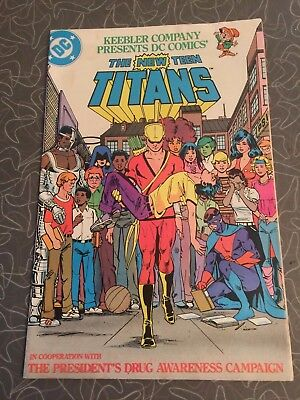 1983 The New Teen Titans Keebler Promotional Drug Awareness Comic Book
