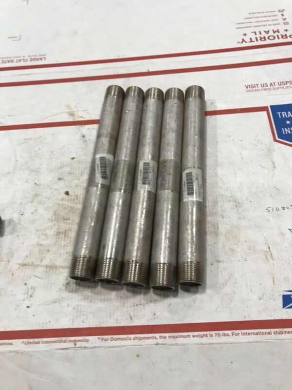 "3/4""x10"" Stainless Steel Pipe Nipples 316 Schedule 40"