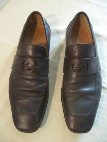 VINTAGE GUCCI LEATHER LOAFERS