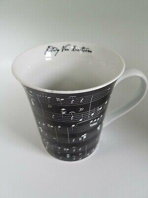 - ZRIKE Brands Ludwig von Beethoven Black White Music Notes Coffee Mug