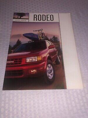 1999 ISUZU RODEO SUV MODEL SHOWROOM SALES BROCHURE/ DEALER CATALOG