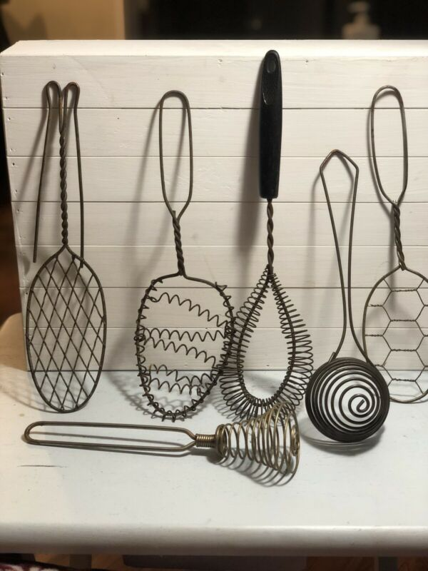 Lot of 6 Antique Kitchen Utensils As Shown In Pictures