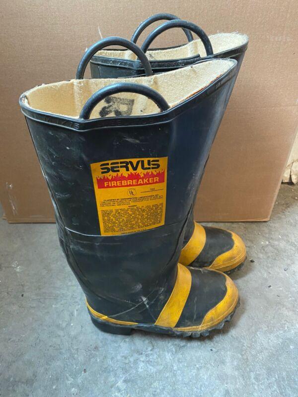 Vintage Servus Firefighter Firebreaker Boots Size 4M 5W Wide Steel Toe
