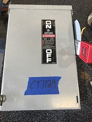 Ge Th3361r Safety Switch 30 Amp 3 Pole 600 Vac 250vdc Disconnect Used Nema 3