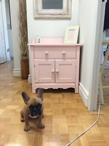 Antique wash stand / cat litter cover