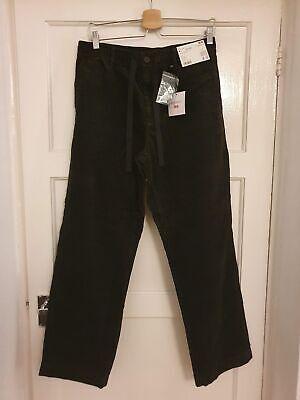 Uniqlo x J.W. Anderson Relaxed Corduroy Drawstring Trousers Dark Green - M