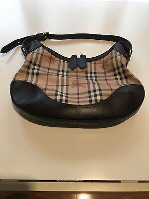 Burberry Handbag Haymarket Datchett Hobo Medium Made In Italy
