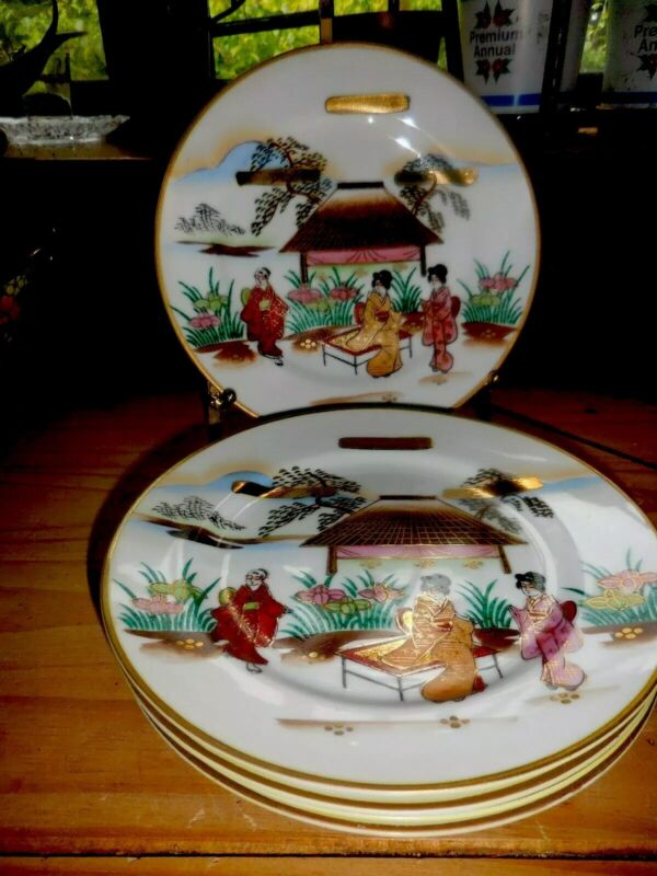 5 Chinese People SCENIC Plates 7.5