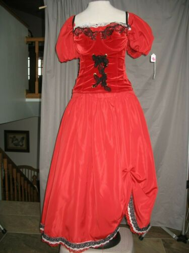 Saloon Girl Womens Dress Old West Costume Civil War Western Dance Hall