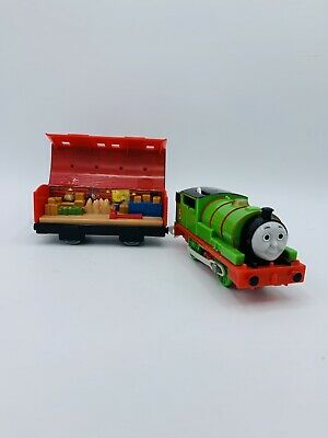 Thomas & Friends Motorized Trackmaster Percy 6 With See Inside Mail Car