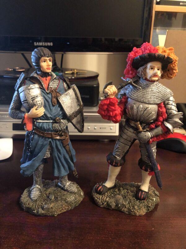 Medieval 10 inch resin figurines