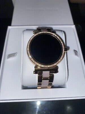 MICHAEL KORS ACCESS MKT5041 Sofie Pavé Rose Gold Smartwatch New Touchscreen Mk