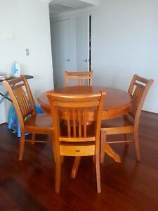 Wooden 4 Seater Dining Table with Chairs Chatswood Willoughby Area Preview