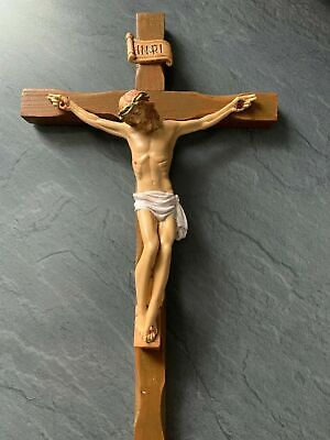 Christian Crucifix cross Jesus Christ Wall cross 28x15 Wood Altar Cross