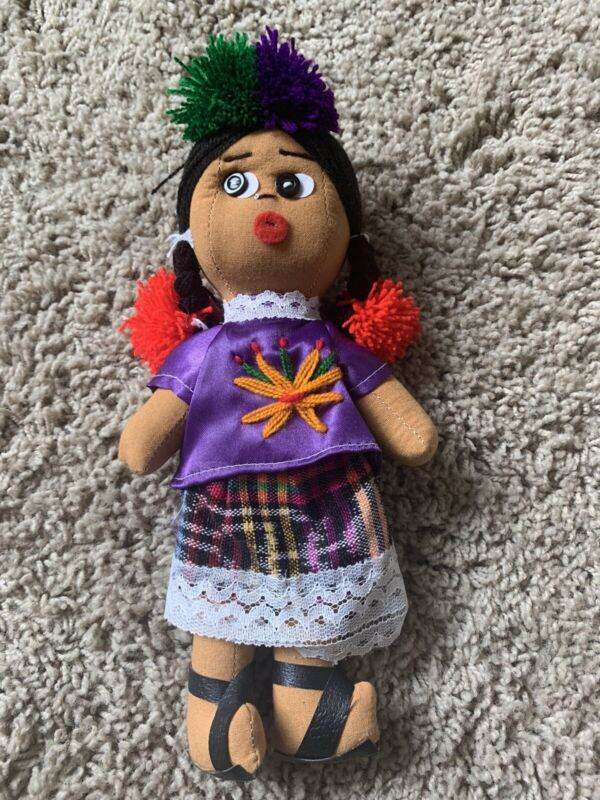 Guatemalan Doll & Guatemalan worry dolls (2 Sets) Excellent Condition.