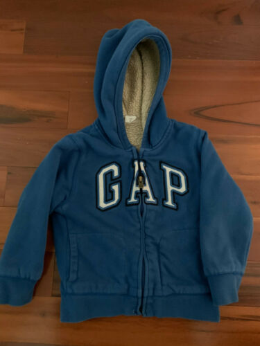 Boys GAP Blue Sweatshirt Jacket Size 5 Used