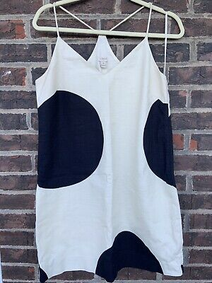 J Crew Carrie dress in big dot Black White Size 8 Pre-Owned Big Dot Dress