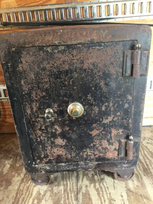 Vintage Antique Alpine 1888 Iron Safe