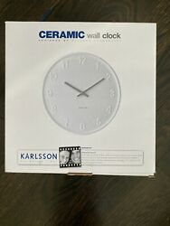 karlsson wall clock west elm  - white NEW IN BOX