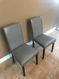 Set of 2 Grey Monarch Specialties chairs
