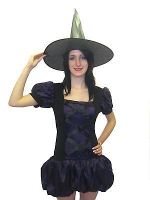 Lila & Negro Hechicera Bruja Disfraz de Halloween