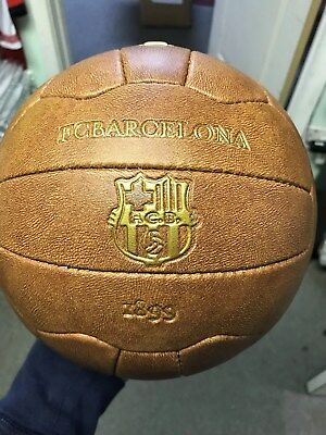 club barcelona retro soccer ball authentic no. 5