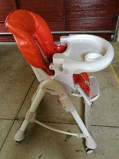 Steelcraft Messina DLX Baby high chair orange