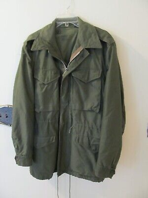 Vtg 50s USA Military M-1951 FIELD Coat Korean War US Army M51 Combat Jacket