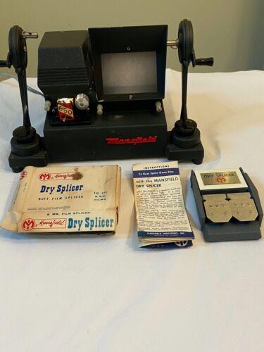 Vtg 8mm Film Editor Mansfield Reporter Model 650 Dry Splicer Works USA