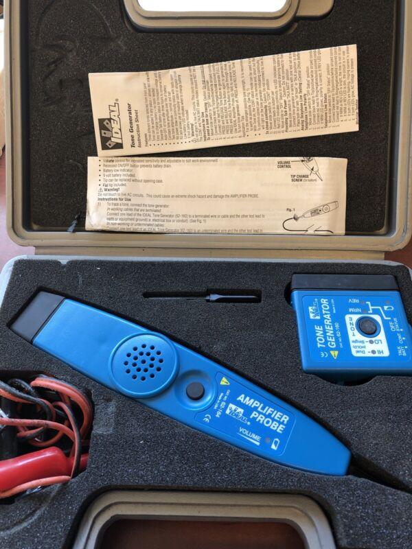 Ideal Amplifier Probe 62-164 Tone Generator 62-160 w/ Case