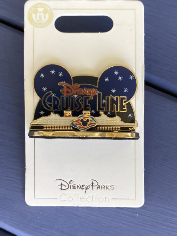 Disney Parks DCL Cruise Line 3D Diorama Starry Night Stars Ship 3D Pin New