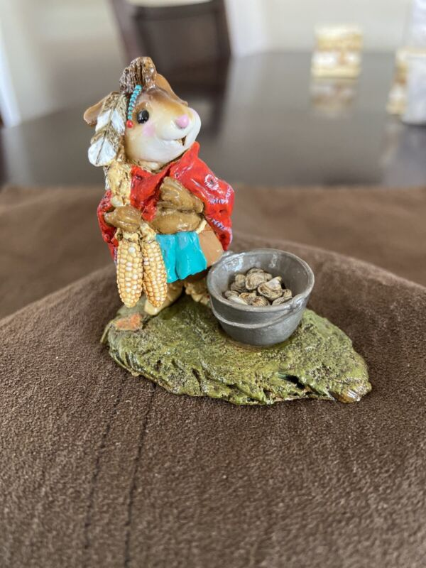 WEE FOREST FOLK M-197 CHIEF MOUSE ASOIT - THANKSGIVING INDIAN