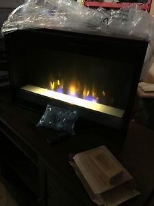 Fireplace insert with remote and decorative rocks