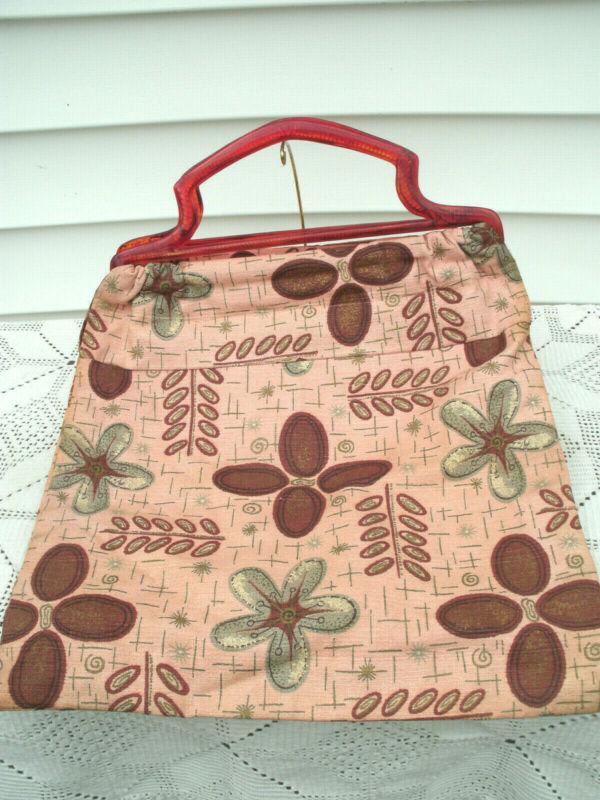 Vintage  Knitting Bag--Hand Sewn--1950